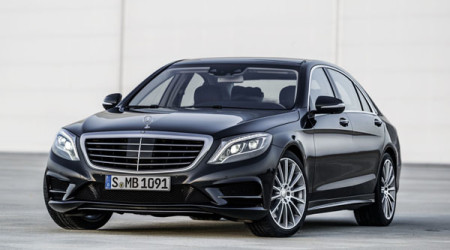 Elegant with a touch of aggression, the big S-Class Mercedes looks superb