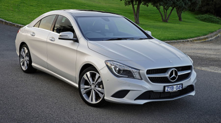 Low slung and sporty, the all-new Mercedes-Benz CLA four-door coupe looks great