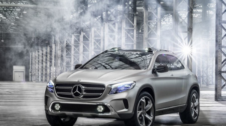 Sleek lines of the Mercedes GLA concept SUV are likely to be translated into reality