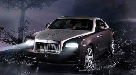 The Rolls-Royce Wraith two-door coupe is a stunning looking car