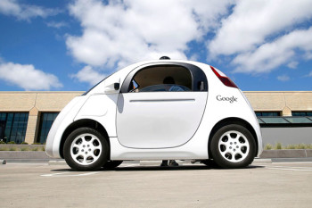 The best known of all Google Cars looks somewhat odd